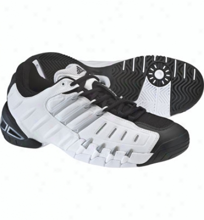 Adidas Tennis Mens Barricade Ii Tennis Shoes (black/silver/white)