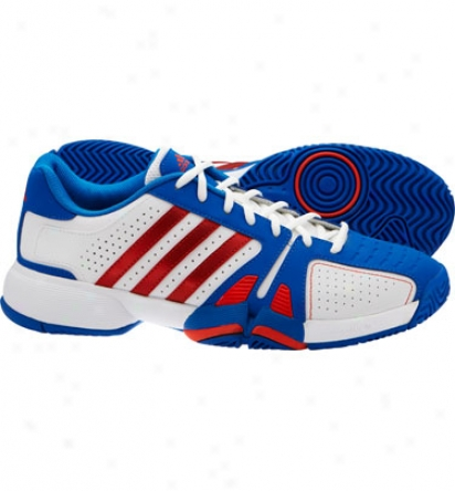 Adidas Tennis Mens Bercuda 2 Running White/orange/blue