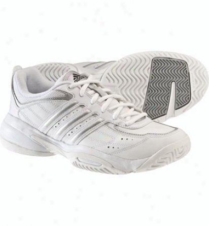 Adidas Tennis Womens Court Ace Tennis Shoes (white/silver)