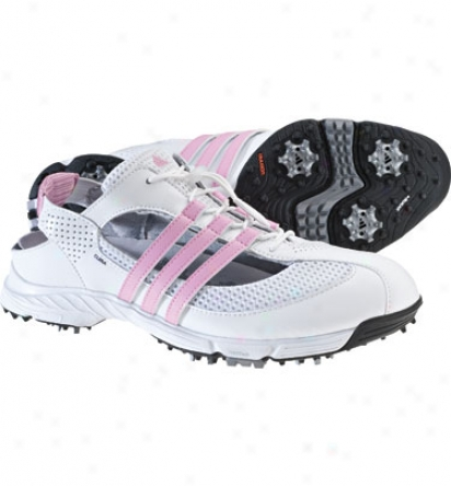 Adicas Womens Climacool Slingback 2.0 Golf Shoes (white/white/blossom)