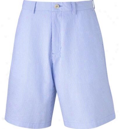 Ashworth Mens Flat Front Cotton Stripe Shoet