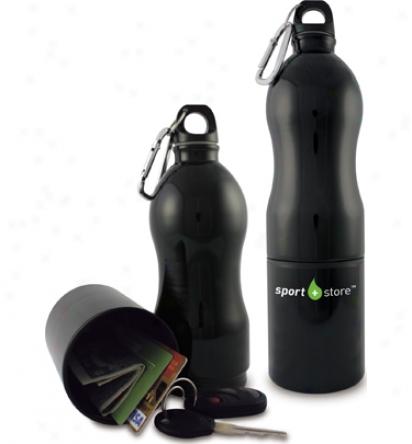Assorted Logo Water Bottle + Storage