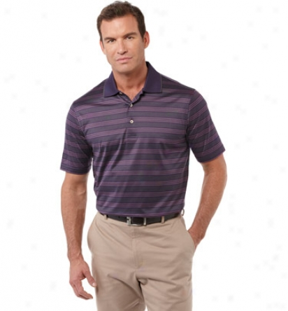 Bobby Jones Mens Mercerized Egyptian Putter Stripe Polo