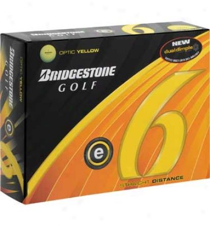 Bridgestone E6 Yellow Golf Balls