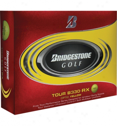 Bridgestone Logo B330-rx Golf Balls (optic Yellow)