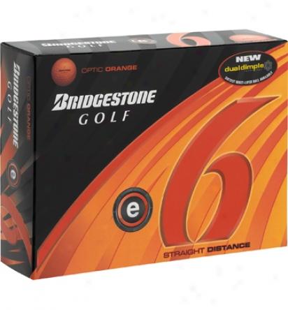 Bridgestone Perqonalized E6 Orange Golf Balls