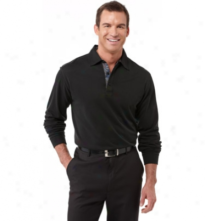 Bugatchi Mens 3-button Self Collar Polo
