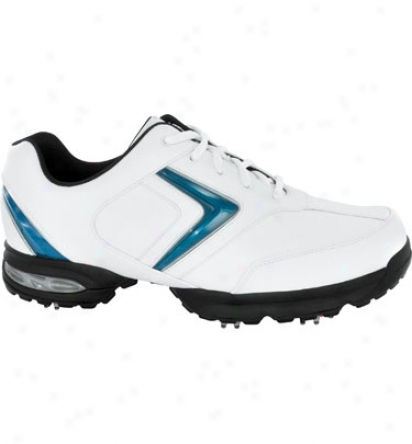 Callaway Mens Chev Comfort - White/navy/silver Golf Shoes