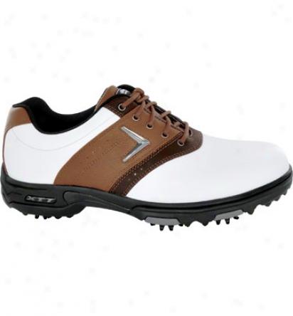 Callaway Mens Xtt Lt Saddle - White/tan/brown Golf Shoes