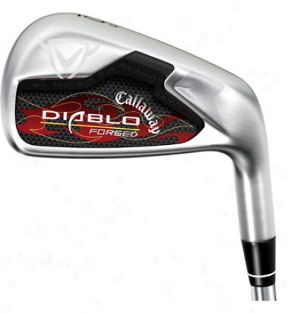 Callaway Pre-owned Diablo Forged Iron Fix 3-pw With Graphite Shafts