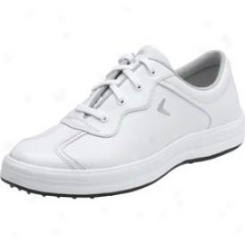 Callaway Womens Turf Caddie Golf Shoes (white/silver)