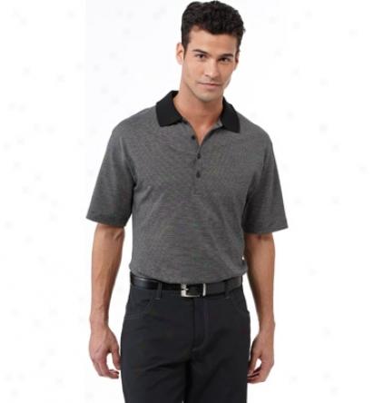 Cavlin Klein Mens Mini Stripe Polo