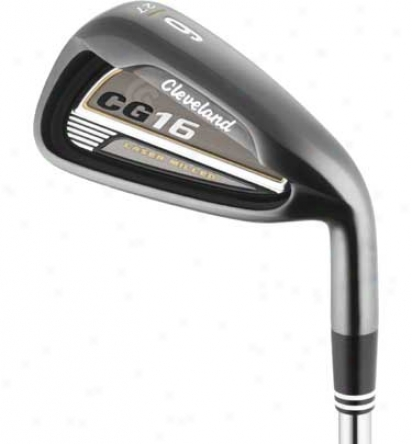 Cleveland Cg16 Black Pearl Iron Set 4-pw With Graphite Shafts