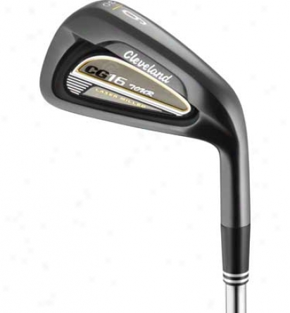 Cleveland Pre-owned Cg16 Tour Black Pearl 3-pw Iron Set With Steel Shafts
