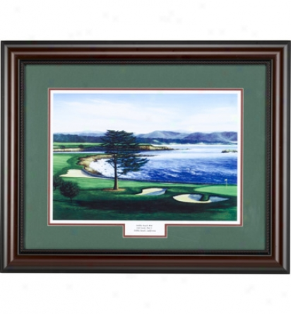 Clubhouse Collection Framed Art - Pebble Beach #18 (24 In. X 30 In.)