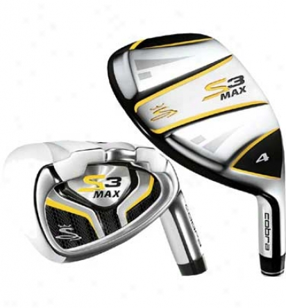 Cobra Pre-owned Senior S3 Max 4h, 5h, 6h, 7-pw, Sw Iron Regular With Graphite Shafts