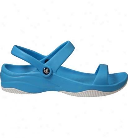 Dawgs Premium Womens 3 Srap Sandal - Peacock/white Casual Shoe