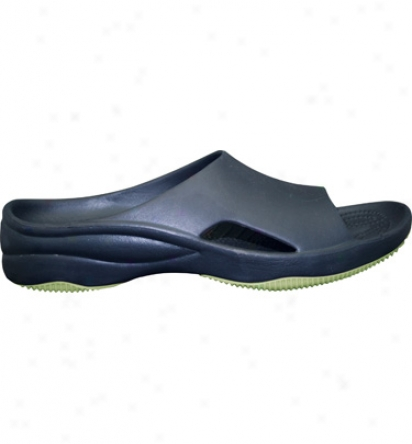 Dawgs Premium Womens Slide With Rubber Sole - Navy/lime Green Casual Shoe