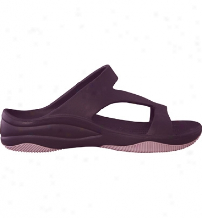 Dawg sPremium Womens Z Sandal With Rubber Sole - Plum/lilac Casual Shoe