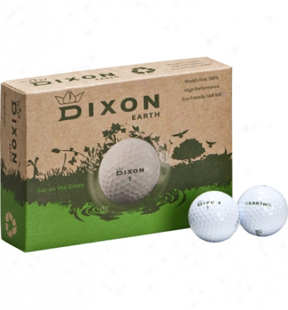 Dixon Golf Logo Earth Golf Balls