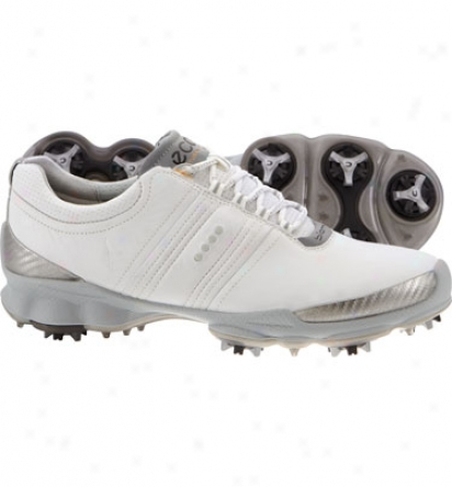 Ecco Mens Biom Hydromax - White/concrete Golf Shoes