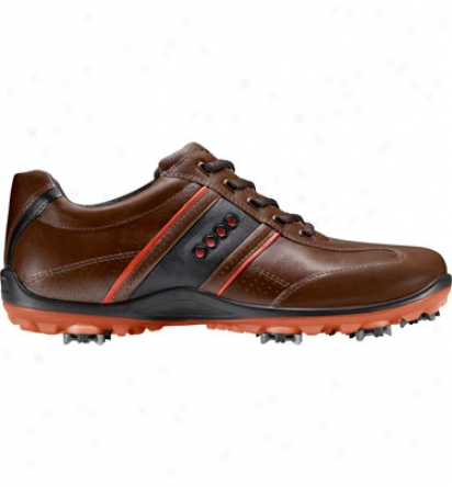 Ecco Mens Casual Cool Ii Hydromax Golf Shoes (bison/fire/black)