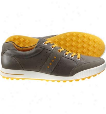Ecco Mens Street Premier - Warm Grey/fanta Golf Shoes
