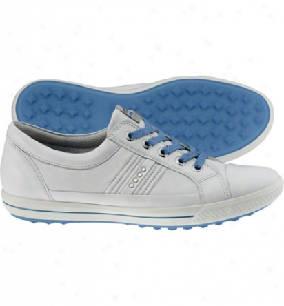 Ecco Wlmens Golf Street - White/white Textile Golf Shoes