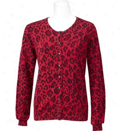 Ep Pr oWomens Longslerve Leopard Print Cardigan