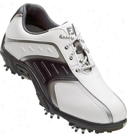 Footjoy Juniors Golf Shoes (white/blzck/silver) - Fj# 45017