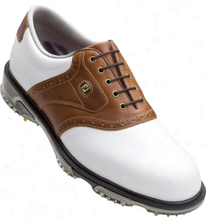 Footjoy Mens Dryjoys Golf Shoes (white/bomber Taupe) - Fj# 53733
