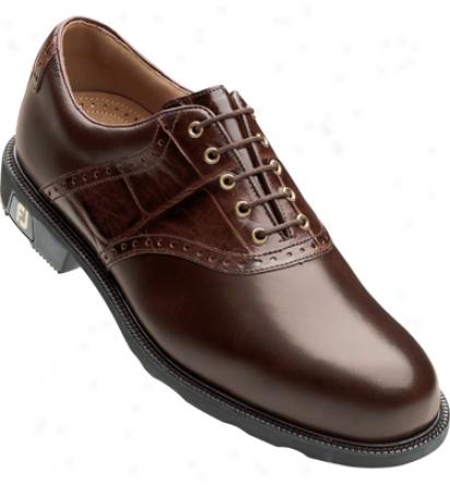 Footjoy Mens Icon Golf Shoes (dark Brown) - Fj# 52236