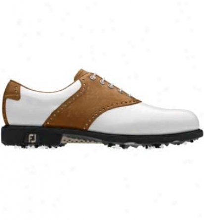 Footjoy Mens Icon Myjoys Golf Shoes (traditional Saddle) - Fj# 52010