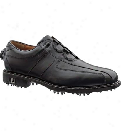 Footjoy Mens Icon Reelfit - Black/black Golf Shoes (fj#52228)