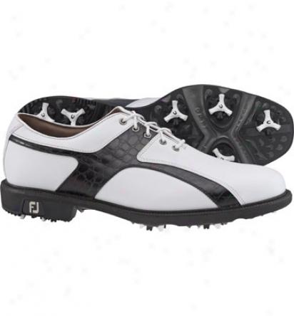 Footjoy Mens Icon - White/black Golf Shoes (fj#52192)