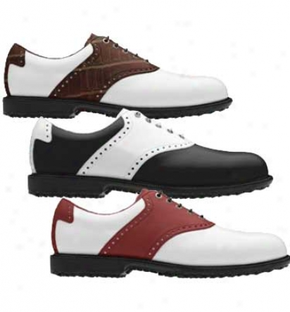 Footjoy Mens Professional Spikeless Traditional SaddleM yjoys Golf Shoes - Fj# 52770