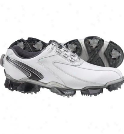 Footjoy Mens Xps-1 - White/pearl/black And Charcoal Detail Boa Golf Shoes (fj#56048)