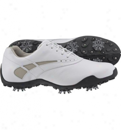 Footjoy Womens Lopro Collection - White/taupe Golf Shoe (fj#97228)