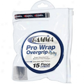 Gamma Pro Wrap Overgrip 15 Piece Resealable Tour Pack