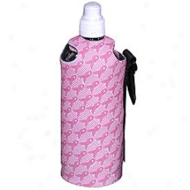 Glove It Nicole Miller Pink Ribbon Water Bottle