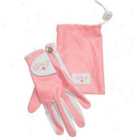 Glove It Wlmens Pink Clear Dot Golf Glove & Pouch