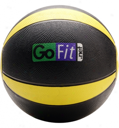Gofit Ultimate Rubber Drug Ball With Pebbly Grip Surface And Core Performance Training Dvd