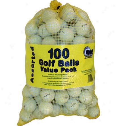 Golf Balls Only Practice B & C Grade Golf Ballw (100 Pack)