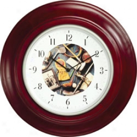 Golf Gifts & Gallery 12 In. Rosewood Clock