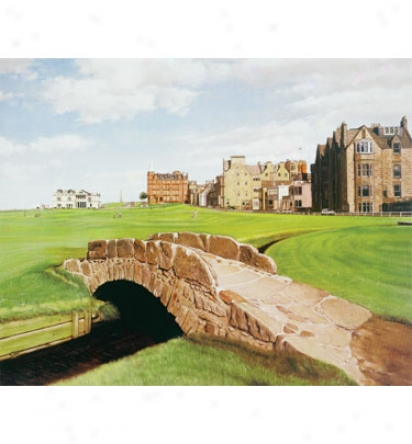 Golf Gifts & Gallery Canvas Art - St Andrews, 23 In. X 29 In.