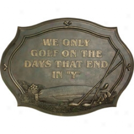 Golf Gifts & Gallery Days End In Y Plaque