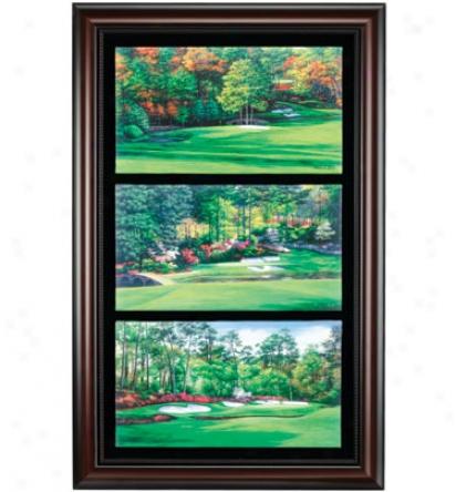 Golf Gifts & Gallery Framed 25 In.x39 In. Canvas Amen Corner