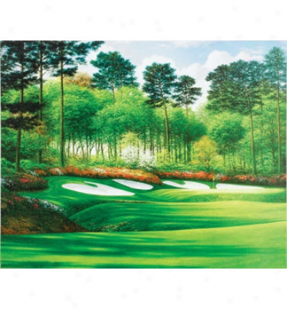 Golf Gifts & Gallery Unframed 17 In.x15 In. Canvas Augusta #13
