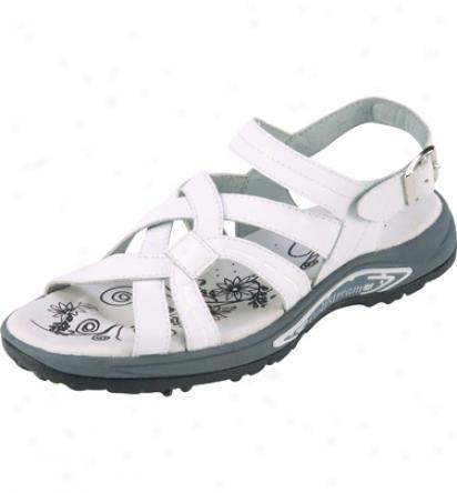 Golfstream Womens Spiked Golf Sandals (white)