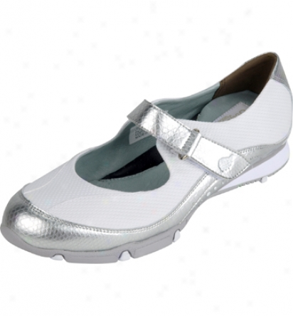 Golfstream Wpmens Summer Golf Shoes (silver/white)